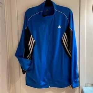 ( XL) Adidas Men Sports Blue, Black & White jacket